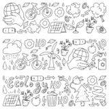 Wektorowy logo, projekt i odznaka w modnym rysunku stylu, - zero ja?owych poj??, przetwarza i reuse, zmniejsza - ekologiczny styl ilustracja wektor