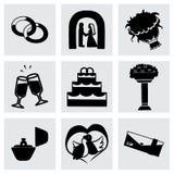Wektorowy ślubny ikona set Obraz Stock