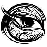 Wektorowy ludzkiego oka atramentu stylizujący nakreślenie Zdjęcie Royalty Free