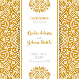 Wektorowy luksusowy ślubny zaproszenie z mandala Fotografia Royalty Free