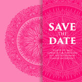 Wektorowy luksusowy ślubny zaproszenie z mandala Obrazy Royalty Free