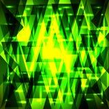 Wektorowy luksusowy złoty zieleń wzór czerepy i trójboki z ilustracji