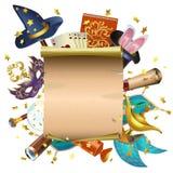 Wektorowy Magiczny pojęcie z ślimacznicą Obrazy Royalty Free