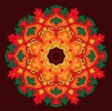 Wektorowy mandala kolorowy słońce Fotografia Royalty Free