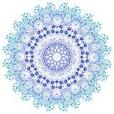 Wektorowy mandala ornament kwiecisty deseniowy round royalty ilustracja