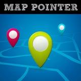 Wektorowy mapa pointer Zdjęcie Royalty Free