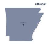 Wektorowy mapa stan Arkansas odizolowywał na białym tle ilustracji