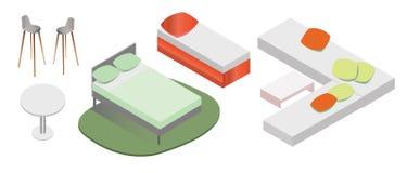 Wektorowy meble w Isometric royalty ilustracja