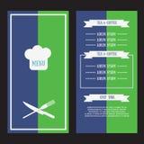 Wektorowy menu szablon Zdjęcie Royalty Free