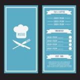 Wektorowy menu szablon Fotografia Royalty Free