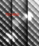 Wektorowy metal mozaik tło Royalty Ilustracja