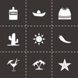 Wektorowy Mexico ikony set Obrazy Royalty Free