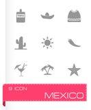 Wektorowy Mexico ikony set Obraz Royalty Free