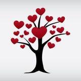 Wektorowy miłości drzewo odizolowywający Fotografia Stock