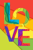 Wektorowy miłości słowo Zdjęcie Royalty Free