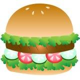 Wektorowy Mięsny grilla i warzywa hamburger Obraz Royalty Free