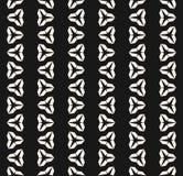 Wektorowy minimalistyczny geometryczny czarny i biały bezszwowy wzór z trójbokami ilustracja wektor