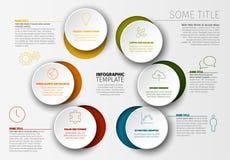 Wektorowy Minimalistyczny kolorowy Infographic szablon Zdjęcia Stock