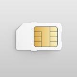 Wektorowy Mobilny Komórkowego telefonu Sim karty układ scalony Zdjęcie Stock