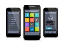 Wektorowy mobilny ui projekt z nazwą użytkownika Zdjęcie Royalty Free