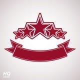 Wektorowy monarchiczny symbol Świąteczny graficzny emblemat z pięć pentagonem Zdjęcie Royalty Free