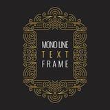Wektorowy Mono Kreskowego stylu Geometryczny Ramowy szablon dla teksta Obraz Stock