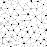 Wektorowy monochromatyczny bezszwowy wzór, czarni liniowi trójboki royalty ilustracja