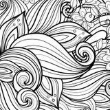 Wektorowy Monochromatyczny Kwiecisty tło ilustracji