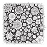 Wektorowy Monochromatyczny Kwiecisty wzór Imitacja ręka rysująca kwiatu doodle tekstura Zdjęcie Stock