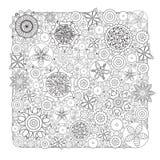 Wektorowy Monochromatyczny Kwiecisty wzór Imitacja ręka rysująca kwiatu doodle tekstura Zdjęcie Royalty Free