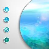 Wektorowy morski szablon Zdjęcia Royalty Free