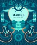 Wektorowy morski tło Zdjęcie Royalty Free