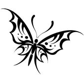 Wektorowy motyli rysunek Obrazy Royalty Free