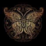 Wektorowy motyli tatuaż Obrazy Royalty Free