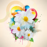 Wektorowy multicolor grunge kwiatu pojęcia tło ilustracji