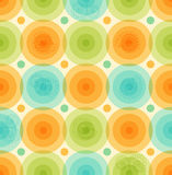Wektorowy multicolor tło wzór z glansowanych okregów Geometrycznym kolorowym szablonem dla tapet, pokrywy Obraz Royalty Free