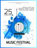 Wektorowy muzyczny plakat Obrazy Royalty Free