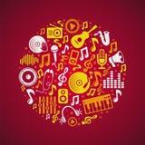 Wektorowy muzyczny pojęcie ilustracja wektor