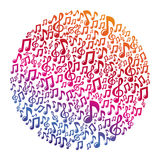 Wektorowy muzyczny pojęcie - muzykalne notatki royalty ilustracja