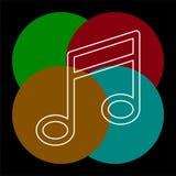 Wektorowy muzykalnej notatki symbol - melodia ilustracji