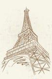Wektorowy nakreślenie Eifel wierza royalty ilustracja