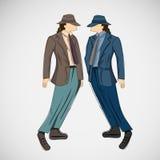 Wektorowy nakreślenie mężczyzna w modzie odziewa eps Fotografia Royalty Free