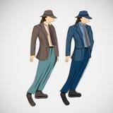 Wektorowy nakreślenie mężczyzna w modzie odziewa eps Obrazy Stock