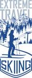 Wektorowy narciarstwo podróży flayer ilustracja wektor