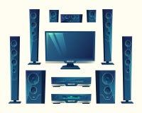 Wektorowy nauczyciel domowy, akustyczny wyposażenie, stereo technologia ilustracja wektor