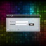 Wektorowy nazwy użytkownika formy ui element na kolorowym tle Zdjęcie Royalty Free