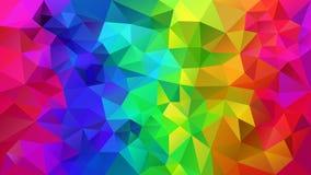Wektorowy nieregularny poligonalny tło tęcza kolor folował widmo - trójboka niski poli- wzór - ilustracji