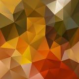Wektorowy nieregularny wieloboka tło z trójgraniastym wzorem w naturalnej jesieni barwi Obraz Stock