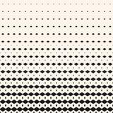 Wektorowy nowożytny abstrakcjonistyczny geometryczny halftone wzór z blaknie rhombuses, diamenty ilustracji