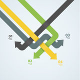 Wektorowy nowożytnego projekta szablon Strzałkowaty labyrint Abstrakt Kolorowy Fotografia Royalty Free
